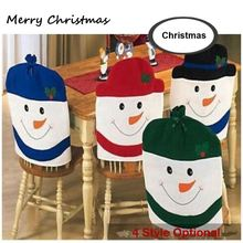 2016 new 4pcs Lovely snowman Christmas chair covers, 4 color snowman optional, new year decoration, ornament
