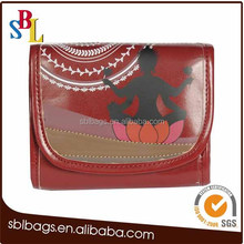 OEM high quality recycle PU fashion cosmetic bag with mirror