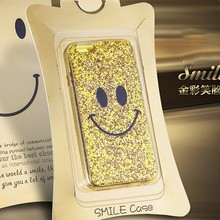 New Shining Glitter Bling Smile Case for iphone 5 6 iphone6 Plus- Retail Packaging