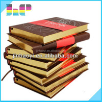Full color square corner leather book PU leather hardcover book printing