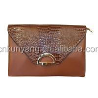 Envelop style PU Leather evening Clutch Handbag
