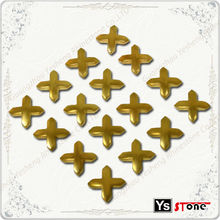 Hot selling gold cross hot fix metal studs for shoe