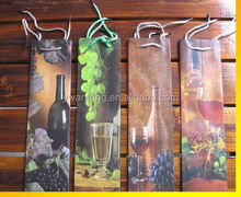 customized paper leather wine bag carrier