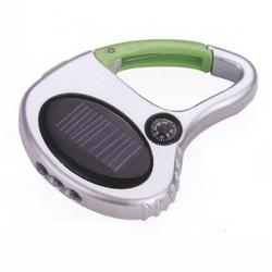 Custom silk printing logo USB gifts keychain, Solar panel LED light USB keychain key chain, mountaineer compass acrylic keyring