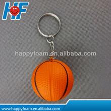 basketball PU stress ball keychain, Stress basketball