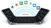Wireless three segment foldable keyboard for iPad, for win 8, for Android tablet and for mobile phones