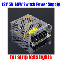 AC 100-240V to DC 40W 5V 8A Switching switch Power Supply for strip leds lights