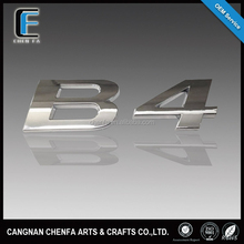 Decorative 3D outdoors shiny silver ABS plastic chrome adhesive car emblem alphabet letters stickers