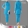 Ocean blue long sleeve swim suit muslimah dress wholesale hijab baju kurung and baju melayu made in China clothing OEM abaya