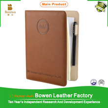 2015 leather cover 6rings bounder planner organizer notebook for corperation gift