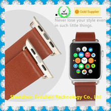 Black/Brown Genuine Leather strap wristband for apple watch,Bracelet for Apple Watch