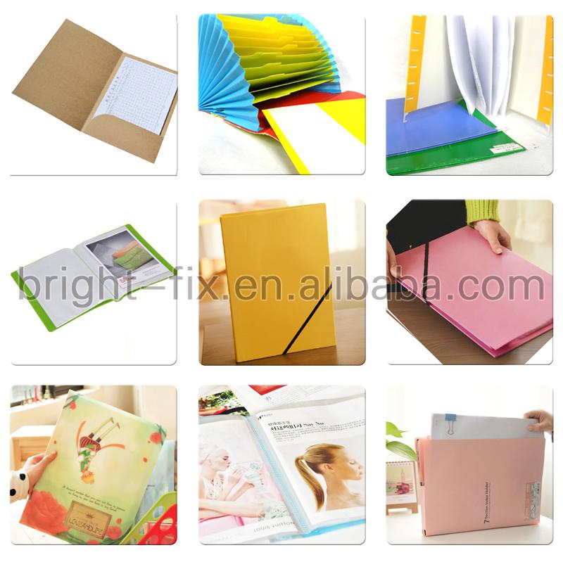 4 furos wth elástico de arquivo de papel impresso