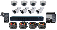 Cmos 1000 tv lines H.264 HDMI 8 channel complete cctv system
