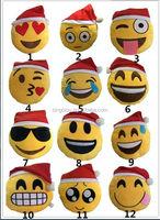 2016 Best Selling In Stock High Quality Christmas gift wholesale cute plush Chrismas emoji pillow,custom whatsapp emoji pillow