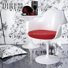 triumph plastic tulip chair/ tulip bedroom chair / tulip arm chair with fabric cushion