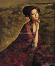 Famous female star Fanbingbing portrait oriental art