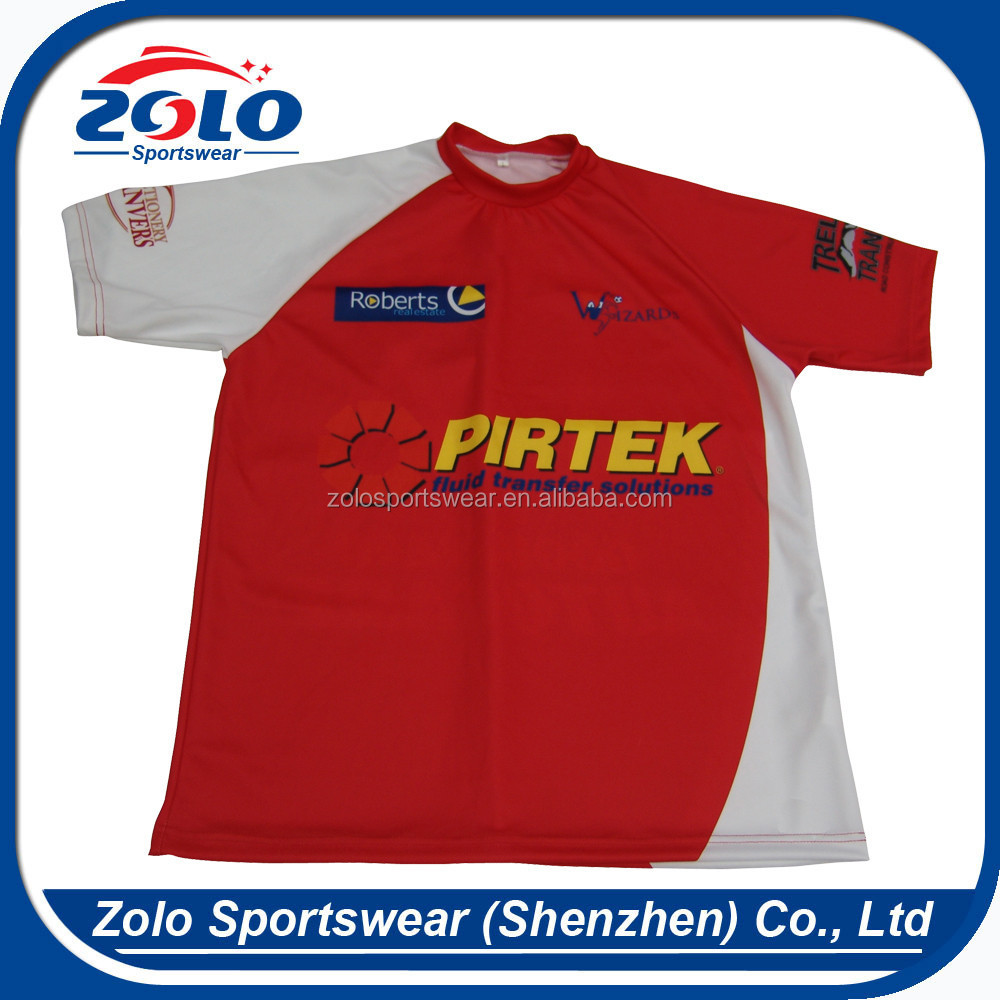 Cheap Custom Sublimated Printing Rugby Shirts With Design