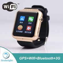 Android smart watch mobile phone with GPS wifi bluetooth camera HD touch screen