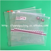 waterproof slider bag/strap zipper slider/reusable document envelope