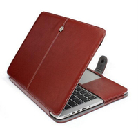 "OEM Leather case for 13"" Mac Book Air Pro, Leather case for Mac book"