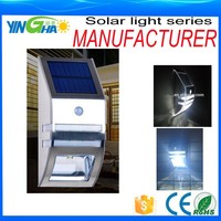 alibaba trade assurance supplier smart motion sensor Solar lamp for outdoor
