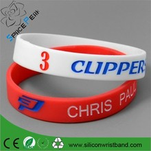 2015 cheap sell basketball bracelets, engraved silicone wristbands,nba basketbalkl debossed silicone band