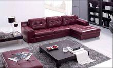 Modern Home / Office design L shaped Genuine Leather Corner Sofa with Chiase Longue arabic sofa sets 8002-30