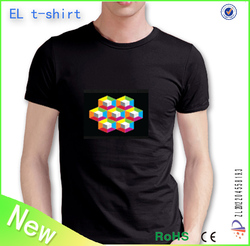 merry christmas custom led t shirt/sound activated el t shirt/el panel led t shirt