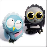 cheap small plastc owl toys, small cheap plastic toys, custom small owl plastic toys