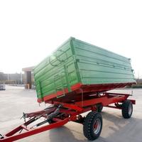 7CX-6T 6 Ton Heavy duty Four wheel Farm trailer with CE certificate