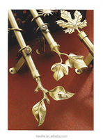 Leaf Finial Curtain Pole Set