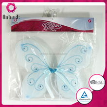 blue butterfly wings lovely girls dye silk fairy wings fairy wings for sale