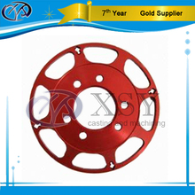 Aluminum cnc precision parts with red anodized