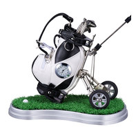 Creative Christmas Promotion Gifts Golf Pen Desk Clock Wholesale Gifts & Crafts Metal Crafts