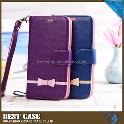 China alibaba leather phone case for sony xperia e4 stand cover