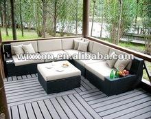 Sectional Garden poly rattan sofa set
