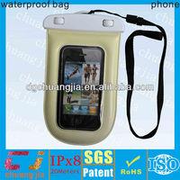 Clear waterproof moblie phone bag