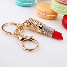 high quality custom keychains red lipstick keyring