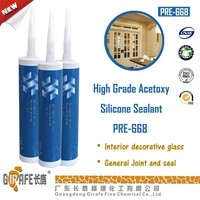 High Grade Acetoxy clear gule silicone sealant