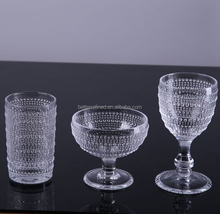 Old Fashion Drinking Crystal Glasses