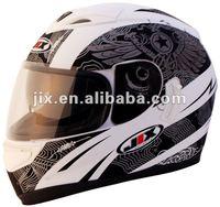 2015 DOT/ECE full face Motorcycle helmets JX-A5005 white/black matt