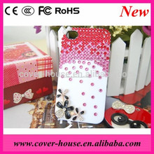 Lusso bling bling 3d diamante fiore cassa del telefono mobile per iphone6 4,7 pollici