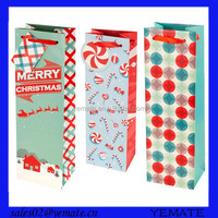 Luxury design offset printing recycled paper fancy wine bottle gift bags