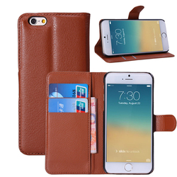 Cheap High Quality PU Leather Case with Wallet and Stand for iPhone 6