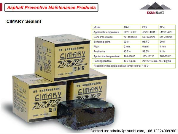 ESUN TE-I waterproof asphalt concrete driveway crack sealer