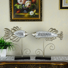 Wholesale Resin Art Fish Handmade Handicrafts Home Decor Items With Silver