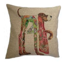 Fashion Christmas Decorative Throw Pillow Cushion Cover Case Linen Cotton Cushion for sofa monkey print