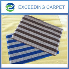 excellent water absorbant striped door mat