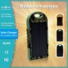 2015 portable solar battery charger patented waterproof mobile 12000mah solar power bank
