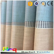Printed stripe in Linen/Polyester Korean style fabric for Curtain, cushion cover, bedding